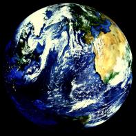 planet erde rund